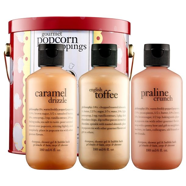 Sephora Philosophy Gourmet Popcorn Toppings Set Bath Gift Sets Or Just Any Shower Gel