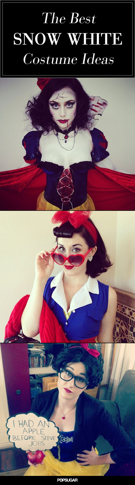 When wearing the perfect Snow White costume, there's no need for a magic mirror — everybody else will tell you that you're the fairest of them all!