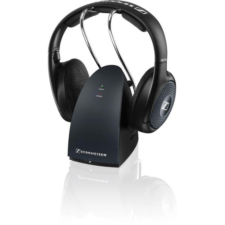Sennheiser RS 135 Headphone - Stereo - Black - Mini-phone - Wired/Wireless - RF - 330 ft - 24 Ohm - 22 Hz 19.50 kHz - 65 dB(A) SNR - Over-the-head - Binaural - Supra-aural