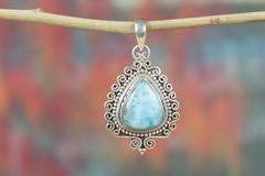 AMAZING REPLUCIAN HANDMADE LARIMAR GEMSTONE 925 SILVER PENDANT $25.99 https://www.brillantejewelry.com/collections/pendants/products/amazing-replucian-handmade-larimar-gemstone-925-silver-pendant
