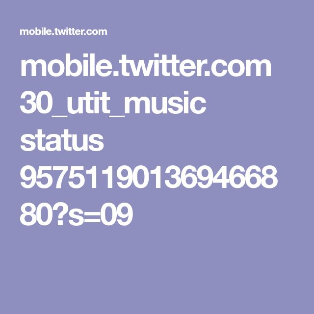 mobile.twitter.com 30_utit_music status 957511901369466880?s=09