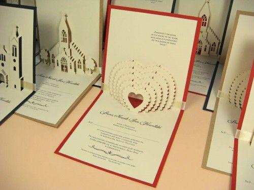 3d kartka na ślub ze wzorem serca jotstudio.pl #kartki3d