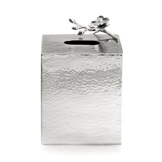 "Michael Aram ""White Orchid"" tissue box"
