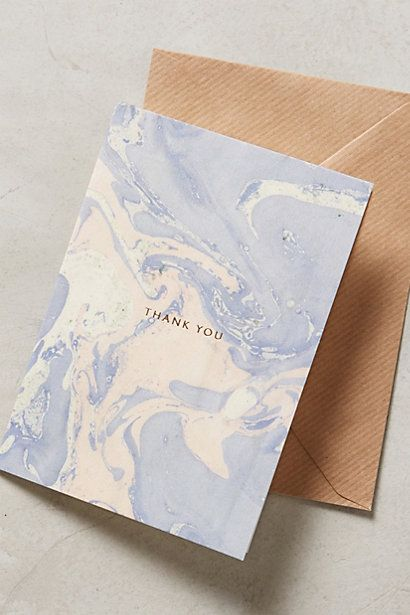 Marbled Thank You Card - anthropologie.com