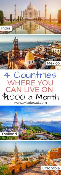 High rent costs and living expenses got you down? Living in any of these countries will set you back just $1,000 a month | #frugalliving #expat #expatlife #liveabroad #moveabroad #liveforless