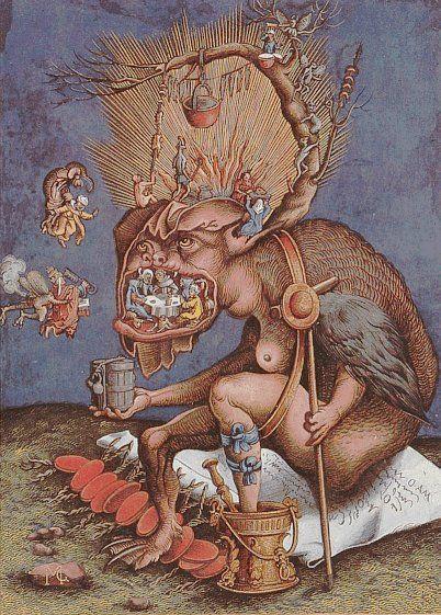 Satire on the catholic clergy (Matthias Gerung, 1536)