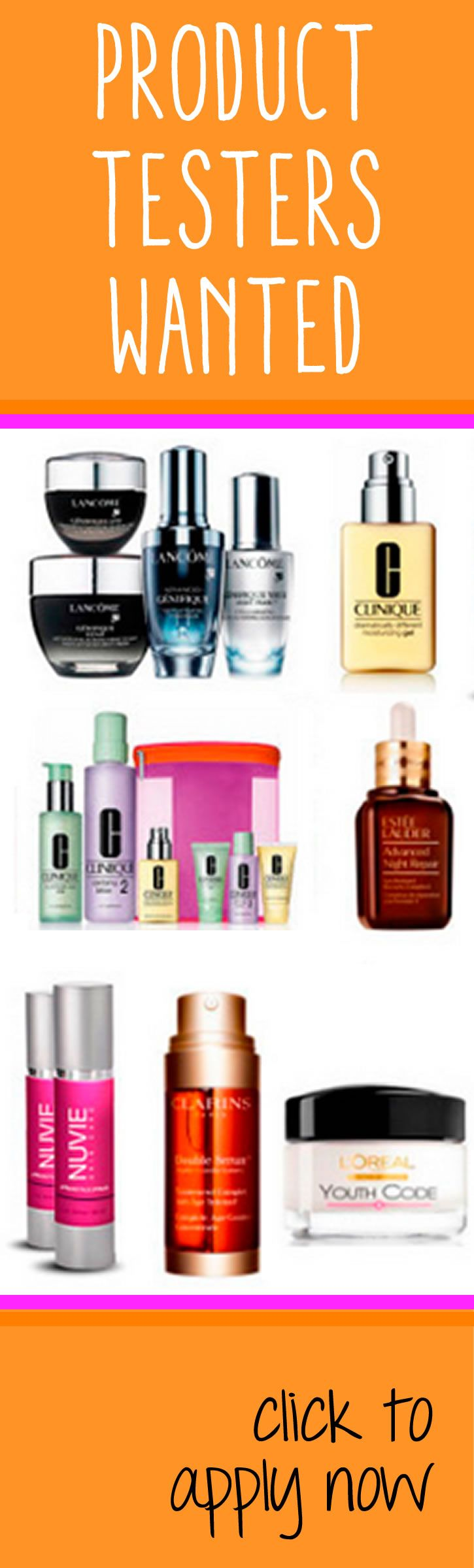 WOW! Free beauty products and samples for testers. Love it!