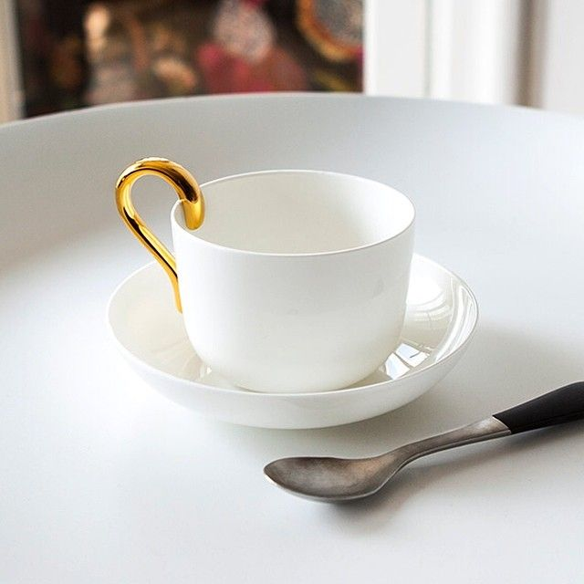 Mine teacup by Anna Kraitz for Design House Stockholm. Both an everyday object and a sculpture.  Instagram photo by @designhousestockholm