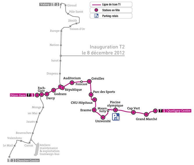 Tram de Dijon : quelques idées pour votre programme - ThingLink