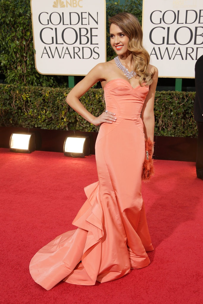 Jessica Alba at the Golden Globes 2013