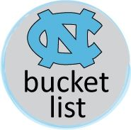 University of North Carolina at Chapel Hill Daily Tar Heel Newspaper Bucket List.