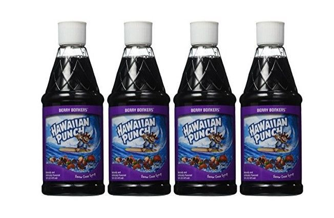 Hawaiian Punch Snow Cone Syrup 16oz Bottle Berry Bonkers set of 4 #Sunbeam