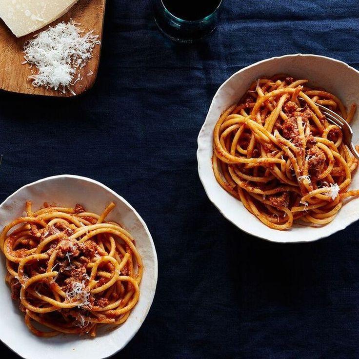 Bucatini Pasta with Pork Ragu Recipe on Food52 recipe on Food52