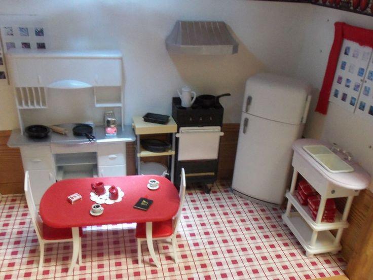 Barbie kitchen :Hand Made and Restored kitchen Furniture