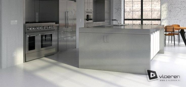 Keukenvloer van G-vloeren Gietvloeren.