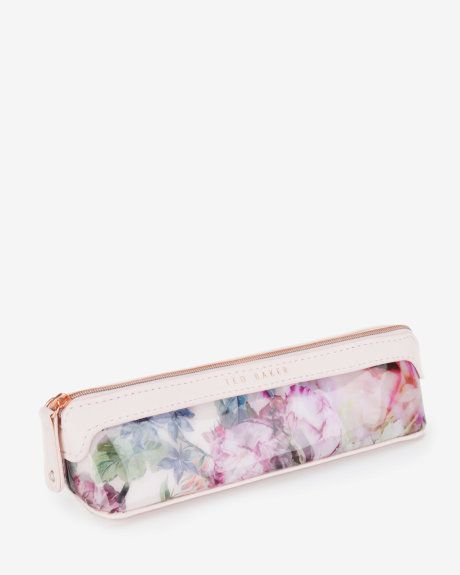 Pure peony pencil case - Dusky Pink | Gifts for Her | Ted Baker