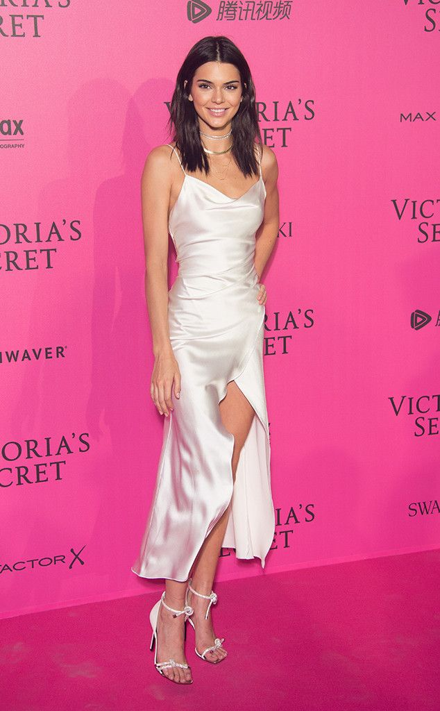 Kendall Jenner from The Big Picture: Today's Hot Pics  Angel in white! The top model is all smiles at the Victoria's Secret Fashion Show after party in Paris.