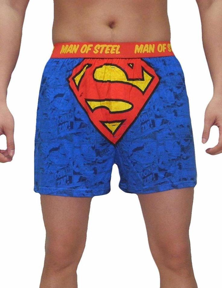 Superman Boxer Shorts Underwear Mens XXL Man of Steel Cotton Knit DC Comics NEW #DCComics #Boxer