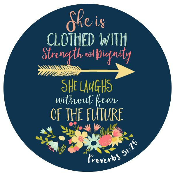 Proverbs 31:25 Decal                                                                                                                                                                                 More