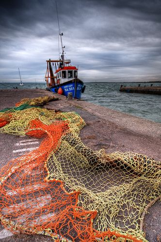 fishing boat, Essex, England...there is something about a fishing net that I can't resist.