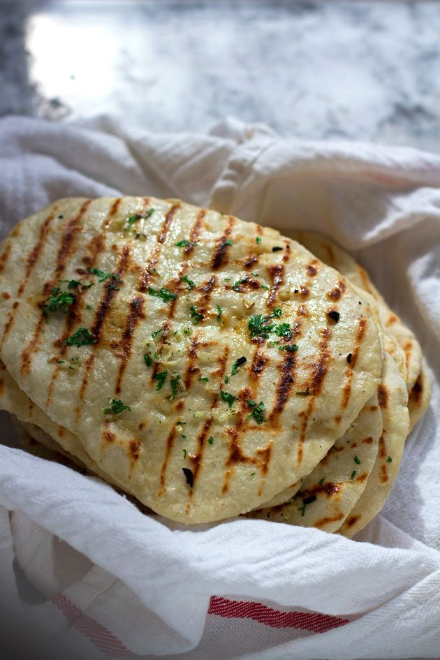 2 Ingredient Naan Flatbread. So easy, and even tastier.