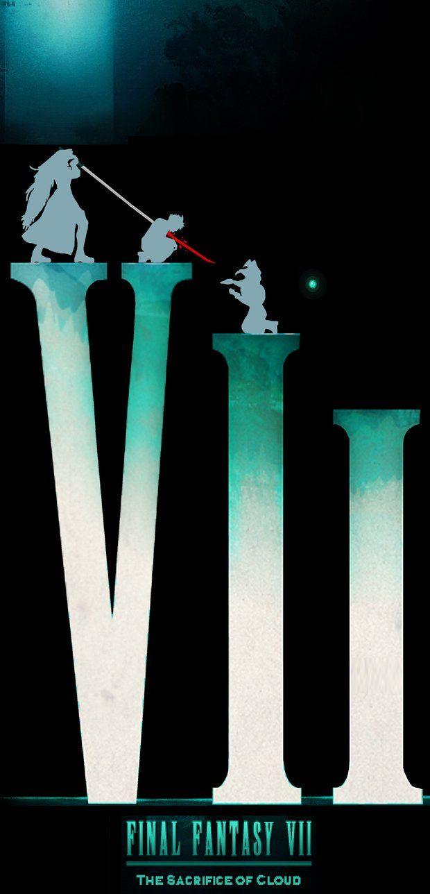 Remade Poster Of Ffvii Tsoc Final Fantasy Vii Final Fantasy