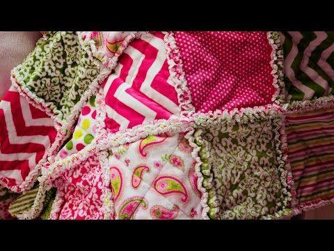 Cómo hacer una colcha deshilachada (tutorial de costura para principiantes) - YouTube