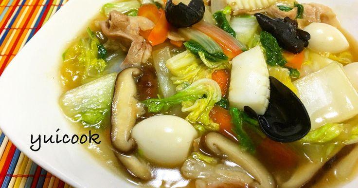 話題のレシピ入り感謝♡ 人気検索1位感謝♡ 冷蔵庫の残りもので簡単八宝菜♡ 野菜たっぷり!ご飯もススみます◎