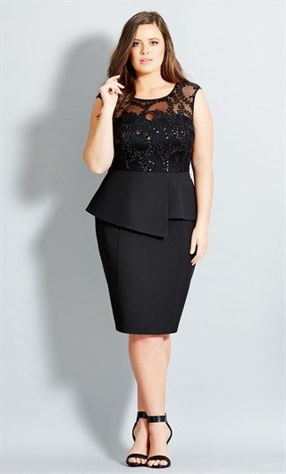 City Chic Sequin Prom Dress - Women's Plus Size Fashion - City Chic Your Leading…