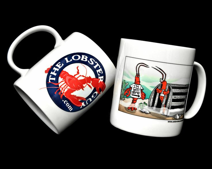 Lobster Guy Mugs! Order today at www.thelobsterguy.com
