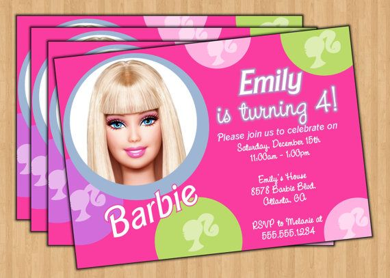 The Best Barbie Birthday Invitations Ideas On Pinterest - Free barbie birthday invitation layout