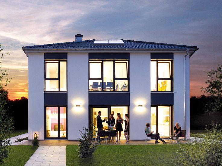 Musterhaus modern walmdach  36 besten Fertighaus Bilder auf Pinterest | Grundrisse, Hausbau ...