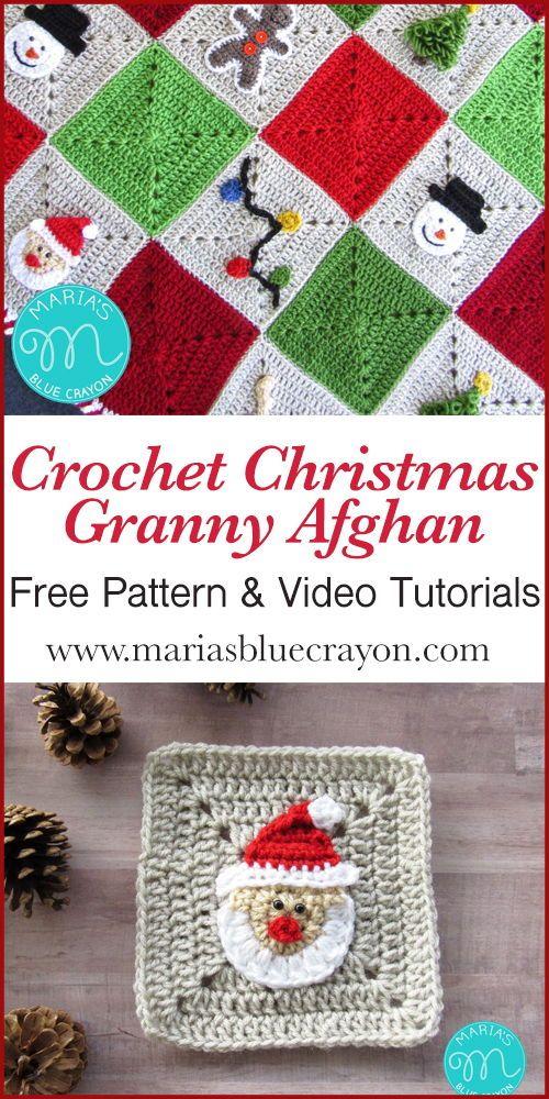 Christmas Granny Square Blanket Free Crochet Pattern Crochet