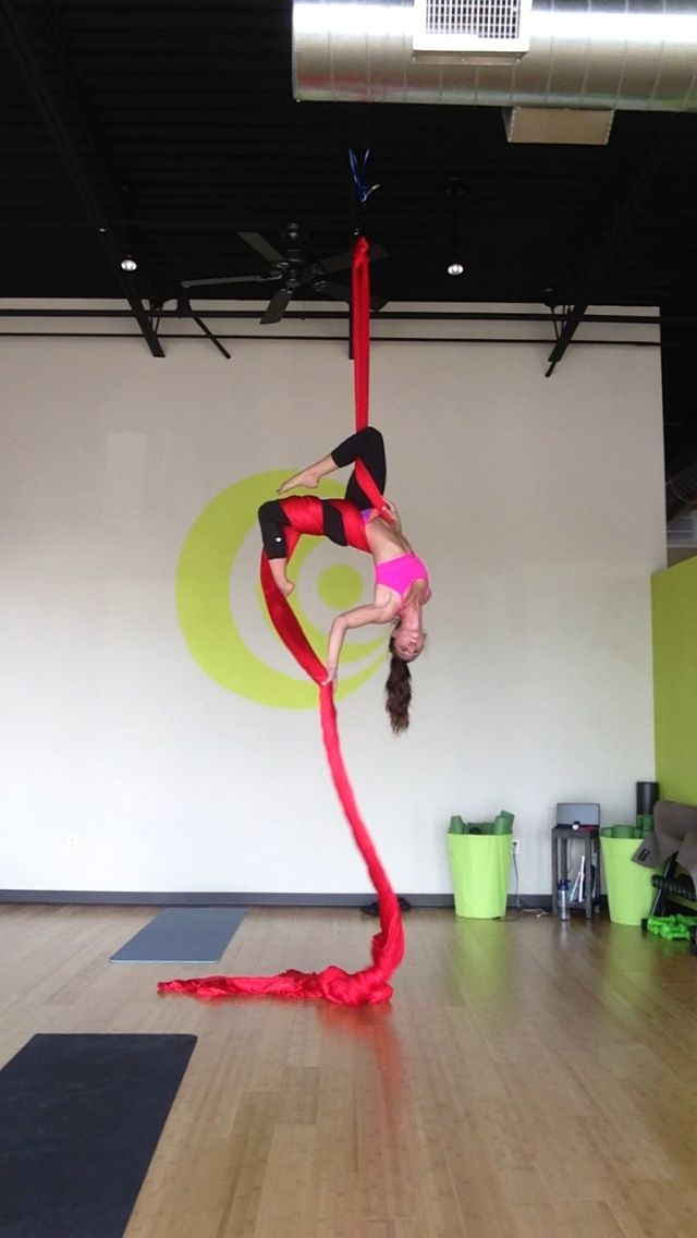 I really miss doing aerial silks. I took some great classes in Seattle.