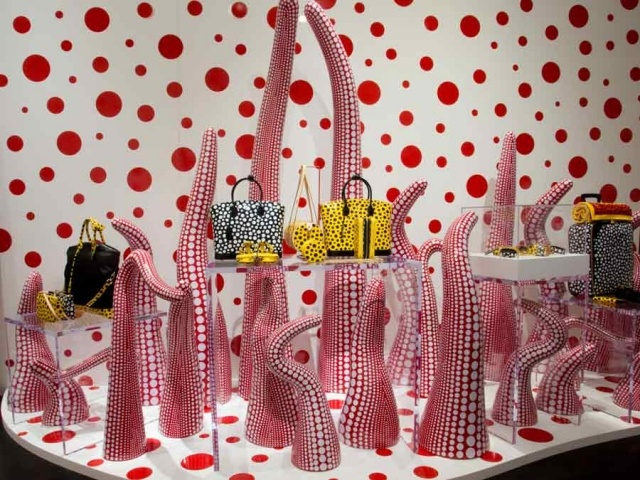 Shop Windows by Yayoi Kusama for Louis Vuitton