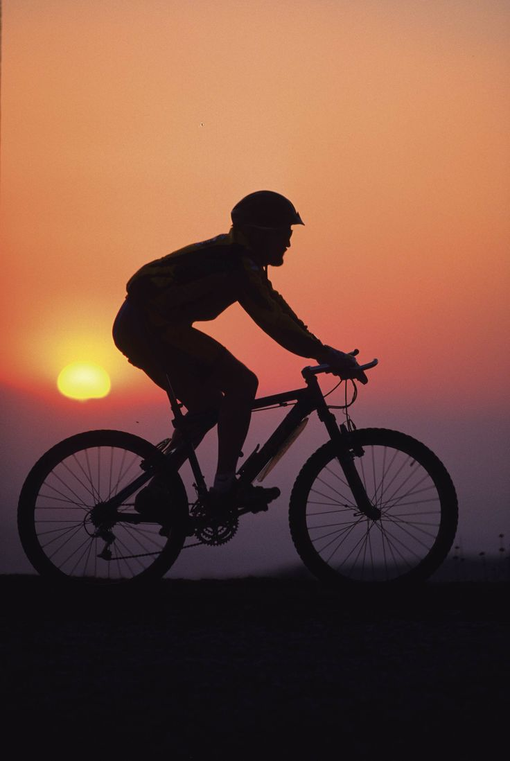 Cycling in the nature.