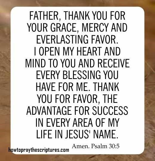 How To Pray Psalm 30:5