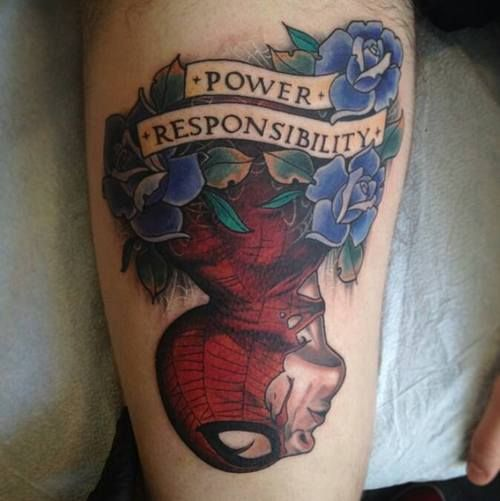 This Spider-Man Tattoo Knows All About Power & Responsibility