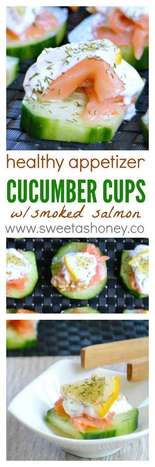 Smoked salmon appetizer | Cucumber cups stuffed | healthy appetizers easy | healthy christmas appetizer ideas