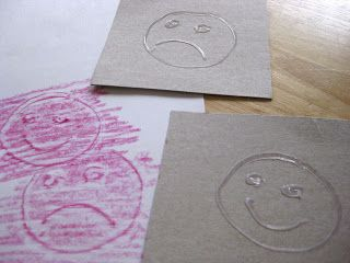 DYI Doodle Rubbings with hot glue - like the idea of emotions, numbers (for learning phone #), letters for spelling, etc.
