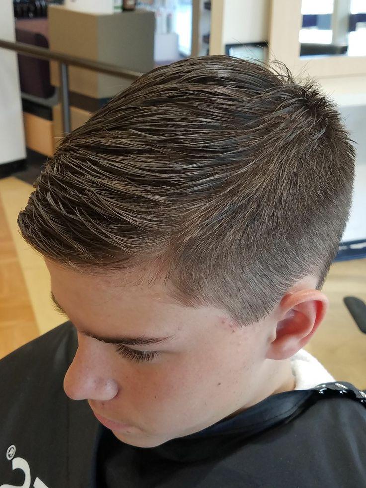 Teen boy  haircut  fade Boys  in 2019  Pinterest