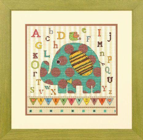 Cross Stitch Kit - Baby Elephant ABC
