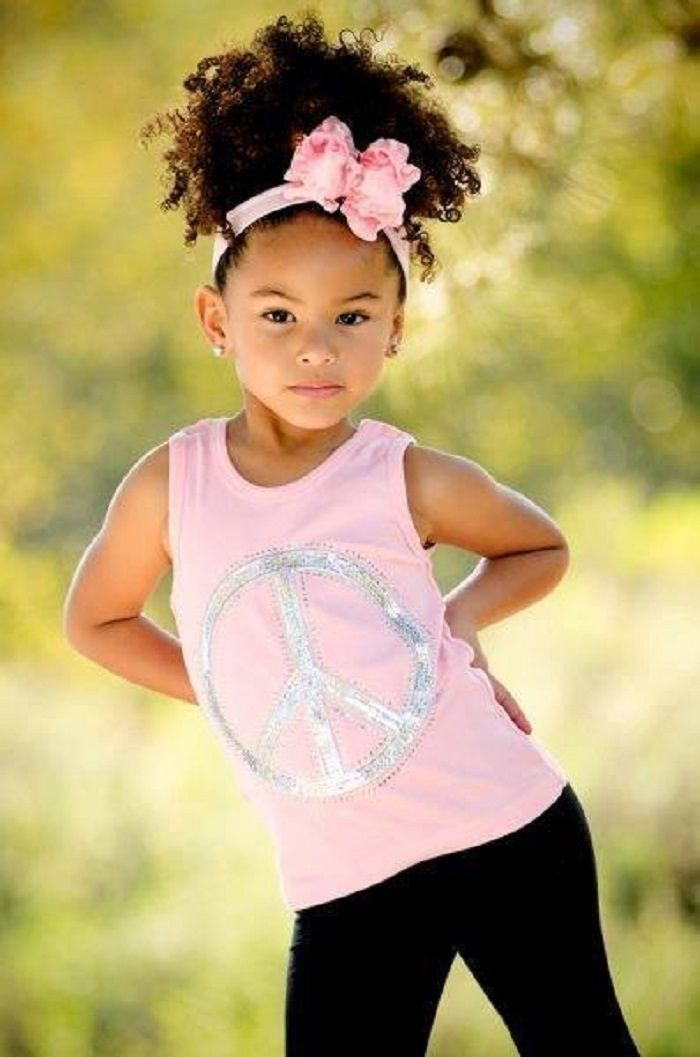 What a doll!! I want to try this on Amara's hair!! its not nearly this long, but should still be cute!!! :D