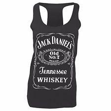 Jack Daniels Logo Ladies Tanktop Dark Grey