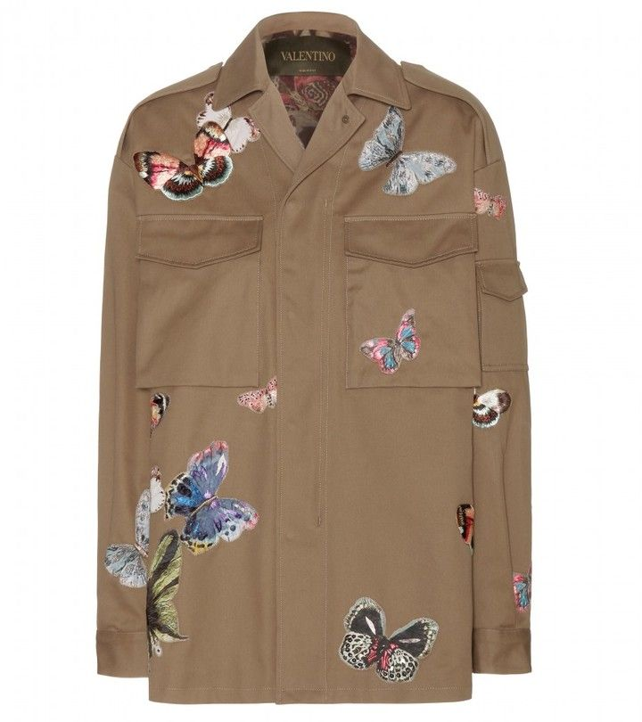 Valentino Embroidered cotton jacket on shopstyle.com
