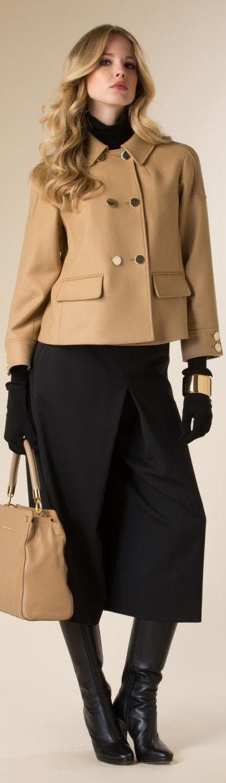 Luisa Spagnoli 2015/16 camel jacket. women fashion outfit clothing stylish apparel @roressclothes closet ideas