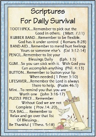 Scripture Survival Kit - Click Image to Close