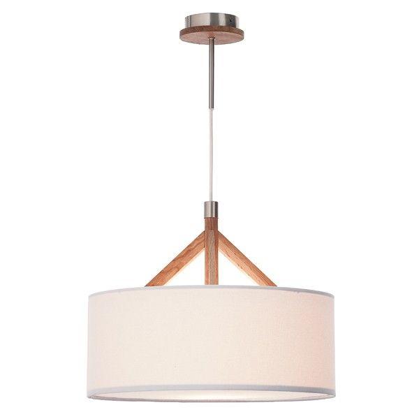 Jacob Pendant in White/Oak,Lighting,Beacon Lighting