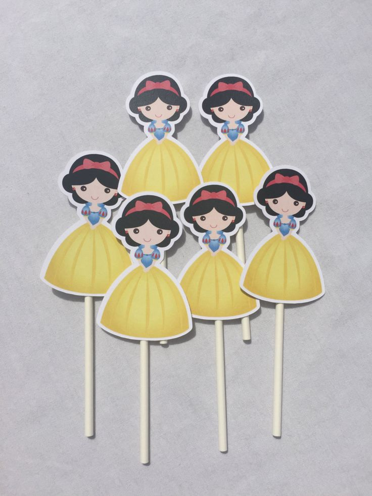 Snow White Party Supplies, Snow White Cupcake Toppers, Snow White Birthday Party, Snow White Party Decoration, Kids Party Dreams by…