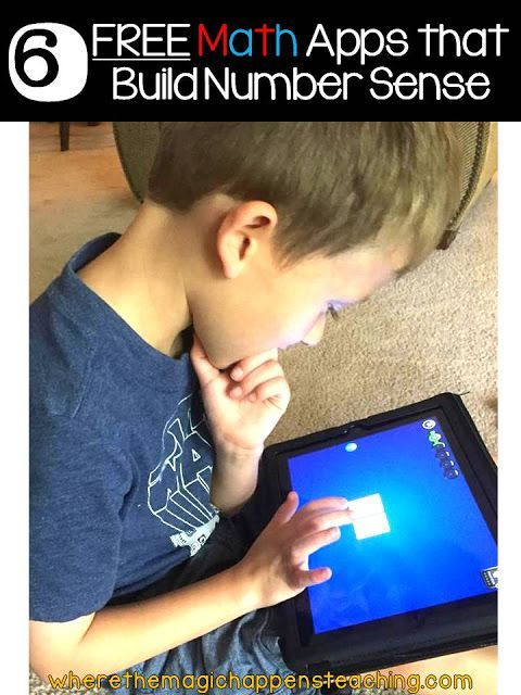 Six FREE Math Apps that Build Number Sense in the primary grades. #classroomtechnology #firstgrademath #wherethemagichappens